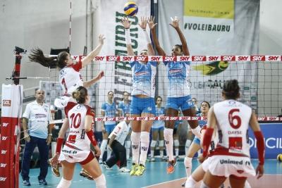 Bauru (SP) - 27.10.2016 - Superliga feminina - Genter Vôlei Bauru x Camponesa/Minas