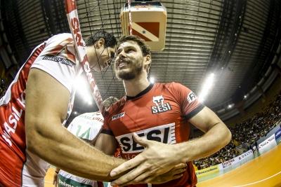 Belém (PA) - 14.12.2016 - Superliga masculina 16/17 - Vôlei Brasil Kirin x Sesi-Sp