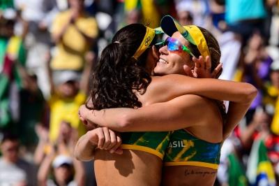 Rio de Janeiro (RJ) - 11.08.2016 - Larissa/Talita x Kolosinska/Brzostek