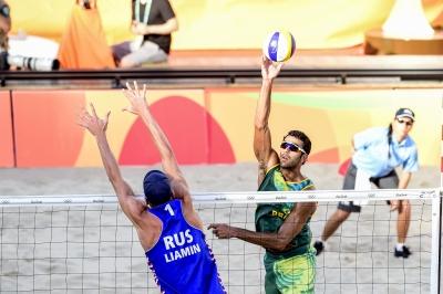 Rio de Janeiro (RJ) - 13.08.2016 - Pedro Solberg/Evandro x Liamin/Barsuk