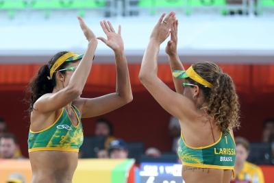 Rio de Janeiro (RJ) - 14.08.2016 - Larissa/Talita x Heidrich/Zumkher