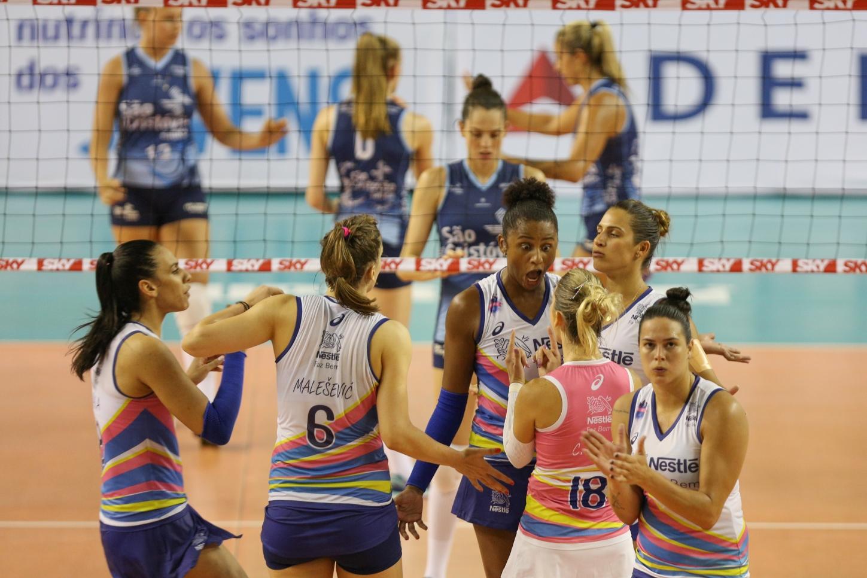 Manaus (AM) - 07.01.2017 - Superliga feminina 16 17 - São Cristóvão  Saúde São Caetano x Vôlei Nestlé 1648e17cc8235