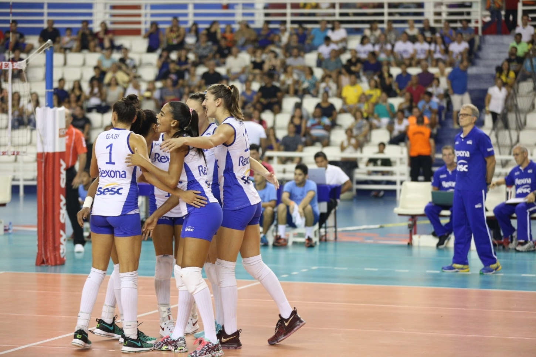 Manaus (AM) - 03.02.2017 - Superliga feminina - São Cristóvão Saúde São  Caetano x Rexona-Sesc 7c6c93398779f