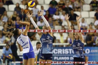 Manaus (AM) - 03.02.2017 - Superliga feminina - São Cristóvão Saúde/São Caetano x Rexona-Sesc