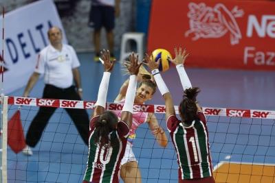 Osasco (SP) - 16.03.2017 - Superliga feminina - Vôlei Nestlé x Fluminense