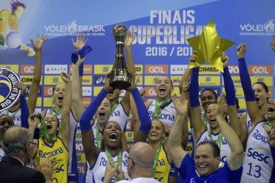 Rio de Janeiro (RJ) -  23.04.2017 - Superliga feminina - Rexona-Sesc x Vôlei Nestlé
