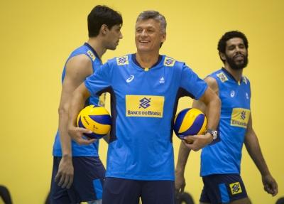 Saquarema (RJ) - 18.05.2017 - Treino da seleção brasileira masculina de vôlei