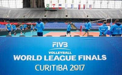 Curitiba (PR) - 02.07.2017 - Treino da seleção brasileira masculina de vôlei no Estádio Atlético Paranaense