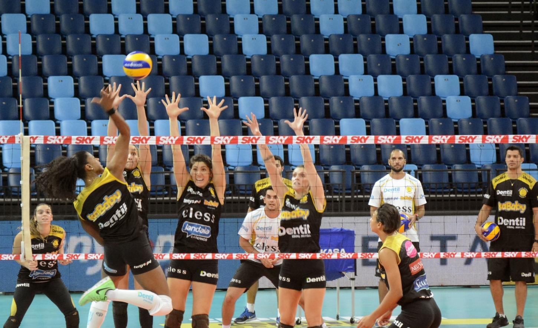 Rio de Janeiro (RJ) - 13.04.2018 - Final Superliga Cimed Feminina - Treino Dentil/Praia Clube