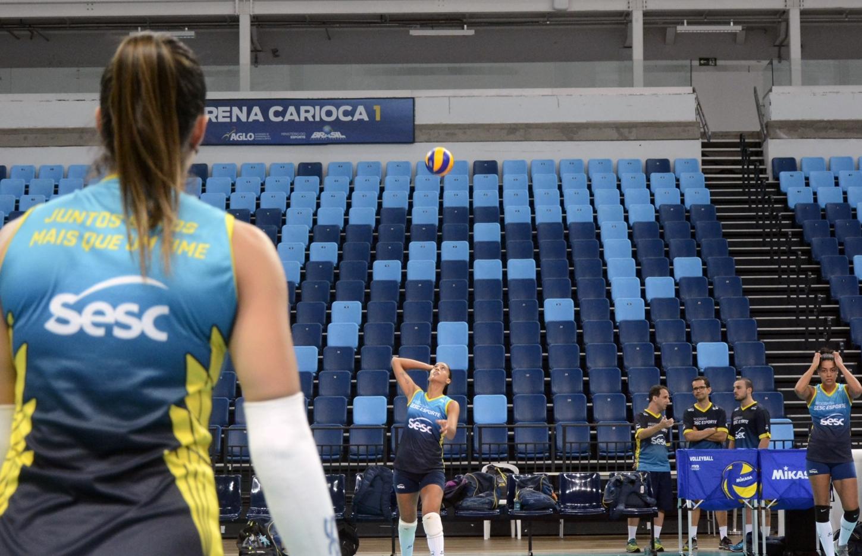 Rio de Janeiro (RJ) - 13.04.2018 - Final Superliga Cimed Feminina - Treino Sesc RJ
