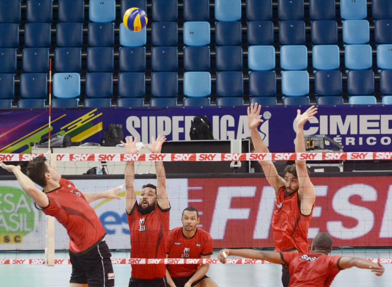 Rio de Janeiro (RJ) - 13.04.2018 - Superliga Cimed Masculina - Treino Sesi SP