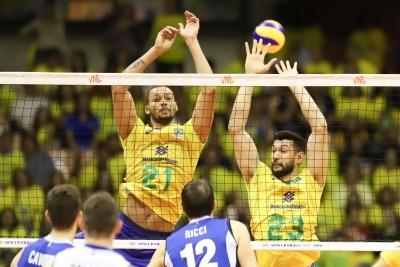 Brasília (DF) - 30.06.2019 - Liga das Nações - Brasil x Itália