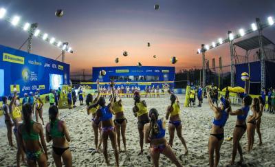 Saquarema (RJ) - 17.09.2020 - Cerimônia de Abertura - Circuito Brasileiro Open de Vôlei de Praia