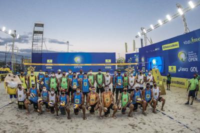 Saquarema (RJ) - 24.09.2020 - Cerimônia de abertura do Torneio Masculino