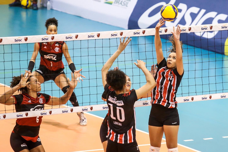Saquarema (RJ) - 08.12.2020 - Superliga Banco do Brasil feminina - Sesc RJ Flamengo x São Paulo/Barueri