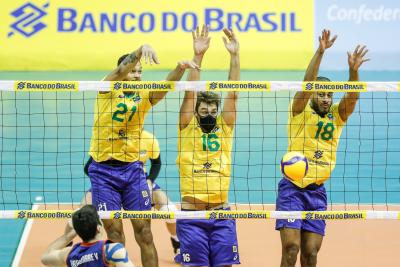 Brasília (DF) - 03.09.2021 - Sul-Americano masculino - Brasil x Chile