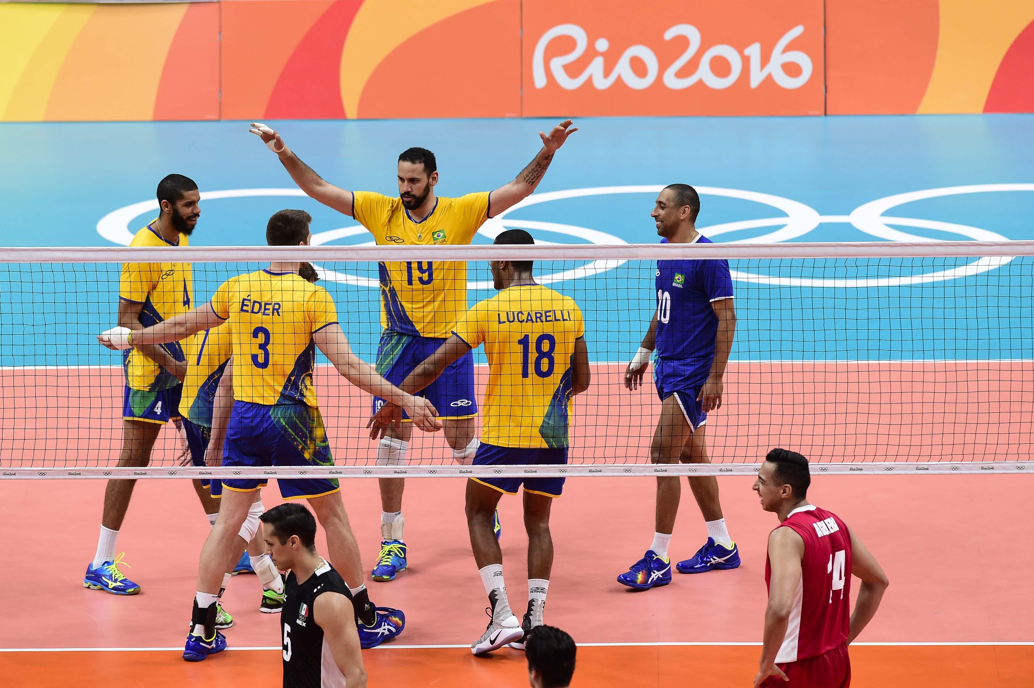 Brasil estreia com vitória no vôlei masculino