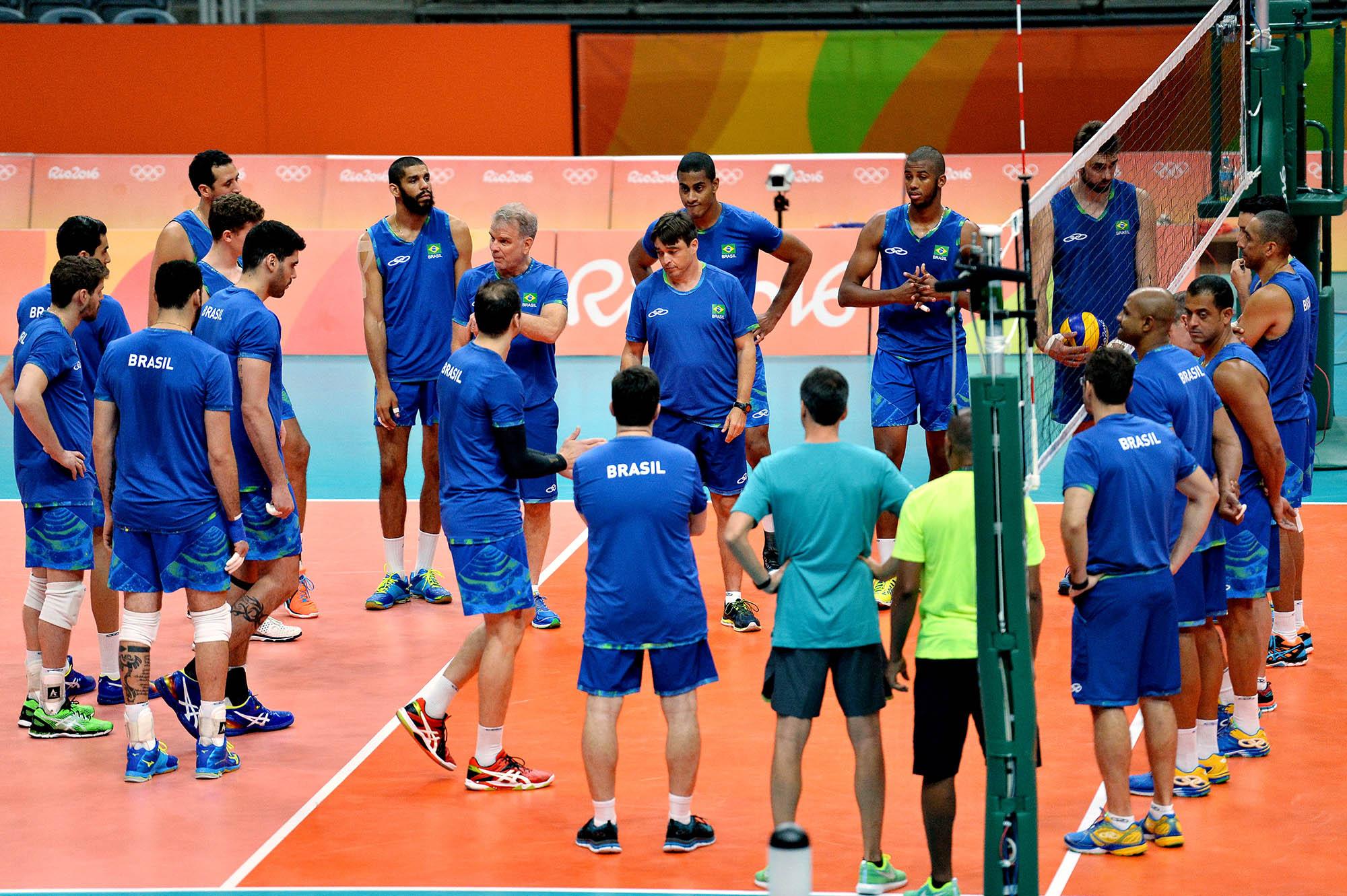 Brasil faz primeiro treino no palco oficial dos Jogos Olímpicos