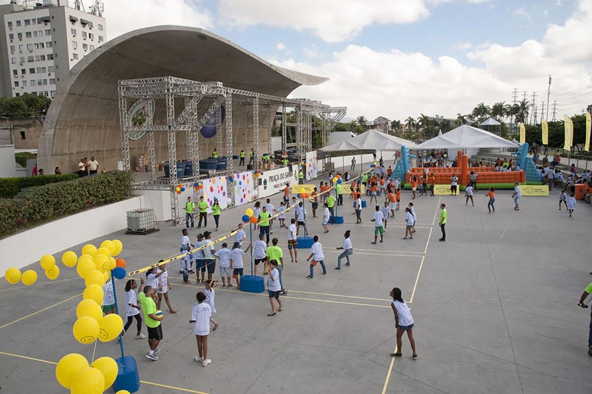 Crianças e adolescentes participam de Festival pré-Jogos Olímpicos