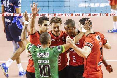 Sesi-SP vence Funvic Taubaté por 3 sets a 0