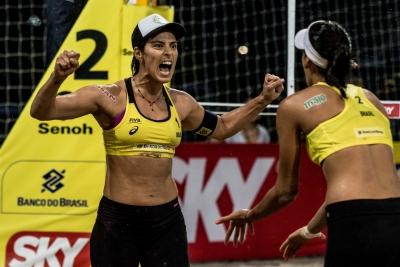 Ágatha/Duda, Bárbara/Fê Berti e Larissa/Talita vão às quartas de final no Rio