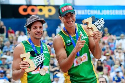 Álvaro Filho/Saymon vence Evandro/André Stein e leva bronze no Major de Gstaad