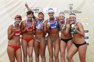 Bárbara Seixas e Fernanda Berti conquistam o ouro da etapa de Xiamen