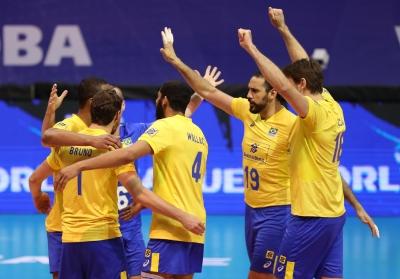Brasil bate os atuais campeões por 3 sets a 1