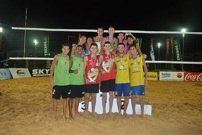 Brasil sobe ao pódio na primeira etapa da seletiva