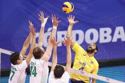 Brasil vence a Bulgária por 3 sets a 0