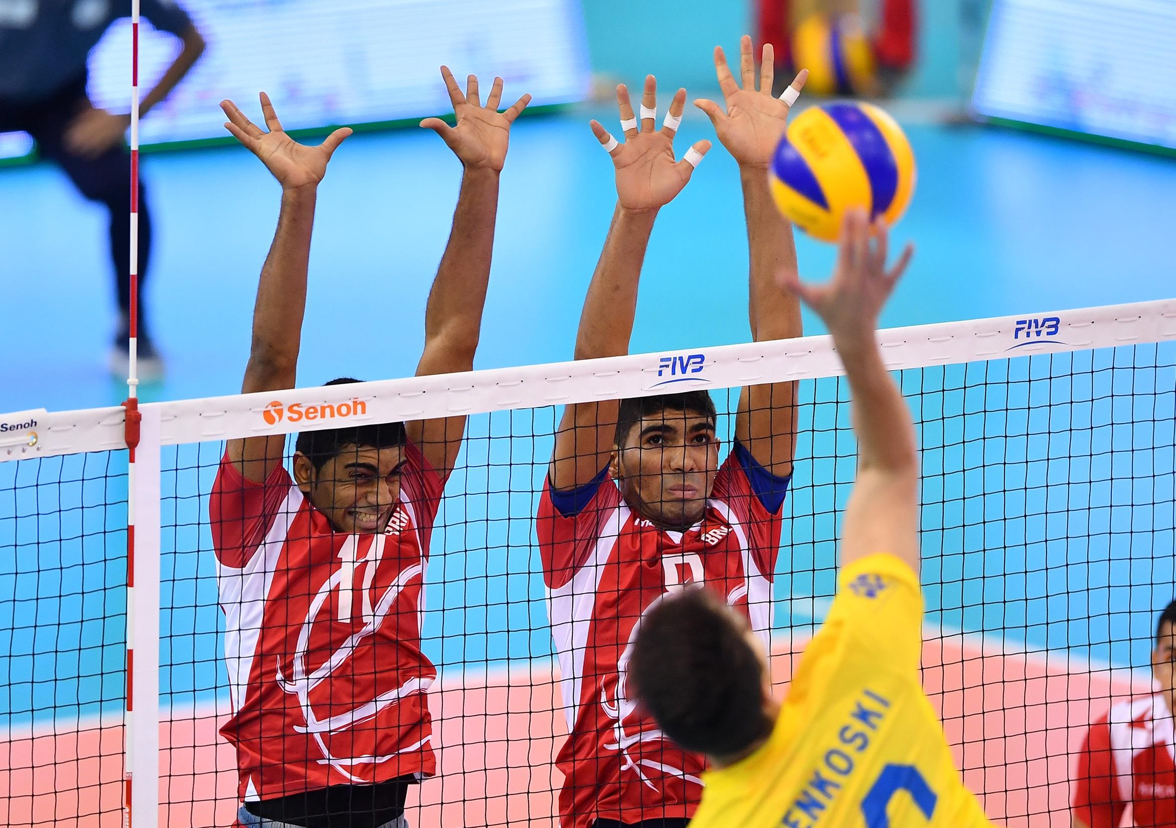 Brasil vence o Bahrein por 3 sets a 0