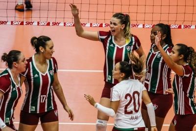 Fluminense faz duelo direto com Genter Vôlei Bauru nesta quinta-feira