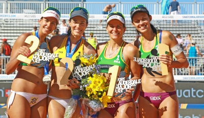 Larissa e Talita vencem Ágatha/Duda, e Brasil repete dobradinha