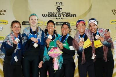 Larissa/Talita leva ouro, e Ágatha/Duda fica com bronze na etapa de Moscou