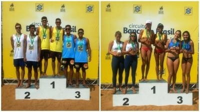 Lipe/Adrielson (PR) e Victoria/Aninha (MS) conquistam a segunda etapa