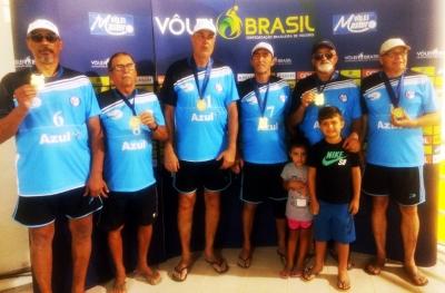 Quarteto Vôlei Master Campos (RJ) conquista o título da categoria