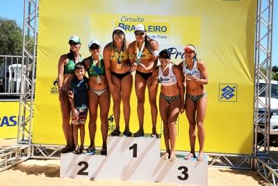Rebecca/Tainá e Gilmário/Moisés são campeões na etapa de Palmas (TO)