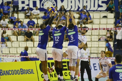 Sada Cruzeiro vence o Vôlei Renata em partida disputada em Manaus