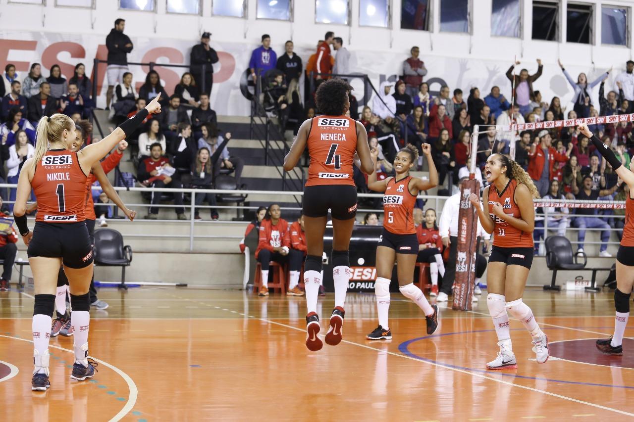 SESI-SP garante vaga na Superliga feminina 2017/2018