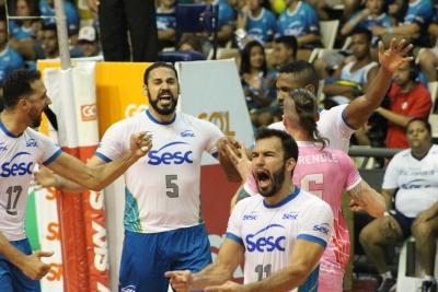 Sesc RJ e Minas abrem rodada no Rio de Janeiro