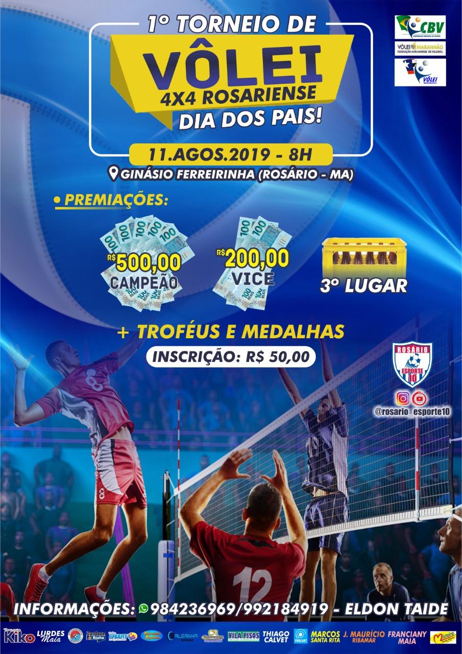 Abertas as inscrições para torneio de vôlei 4x4 em Rosário-MA