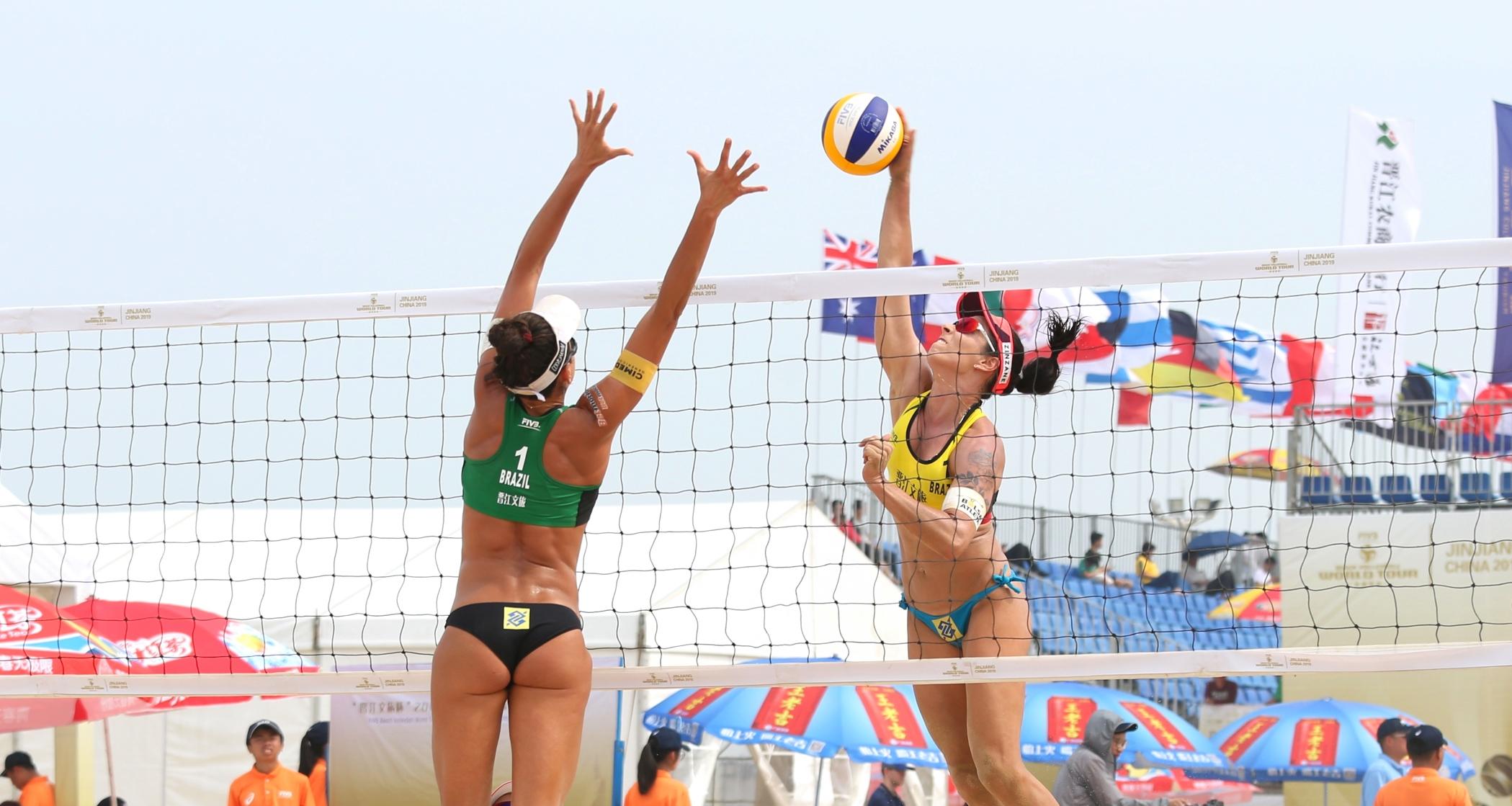 Ágatha/Duda e Ana Patrícia/Rebecca avançam à semifinal na etapa de Jinjiang