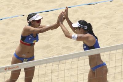 Ágatha/Duda e Ana Patrícia/Rebecca vão à semifinal na etapa de Espinho