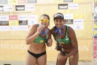 Ana Patrícia/Rebecca vence Ágatha/Duda e fica com bronze na etapa de Portugal
