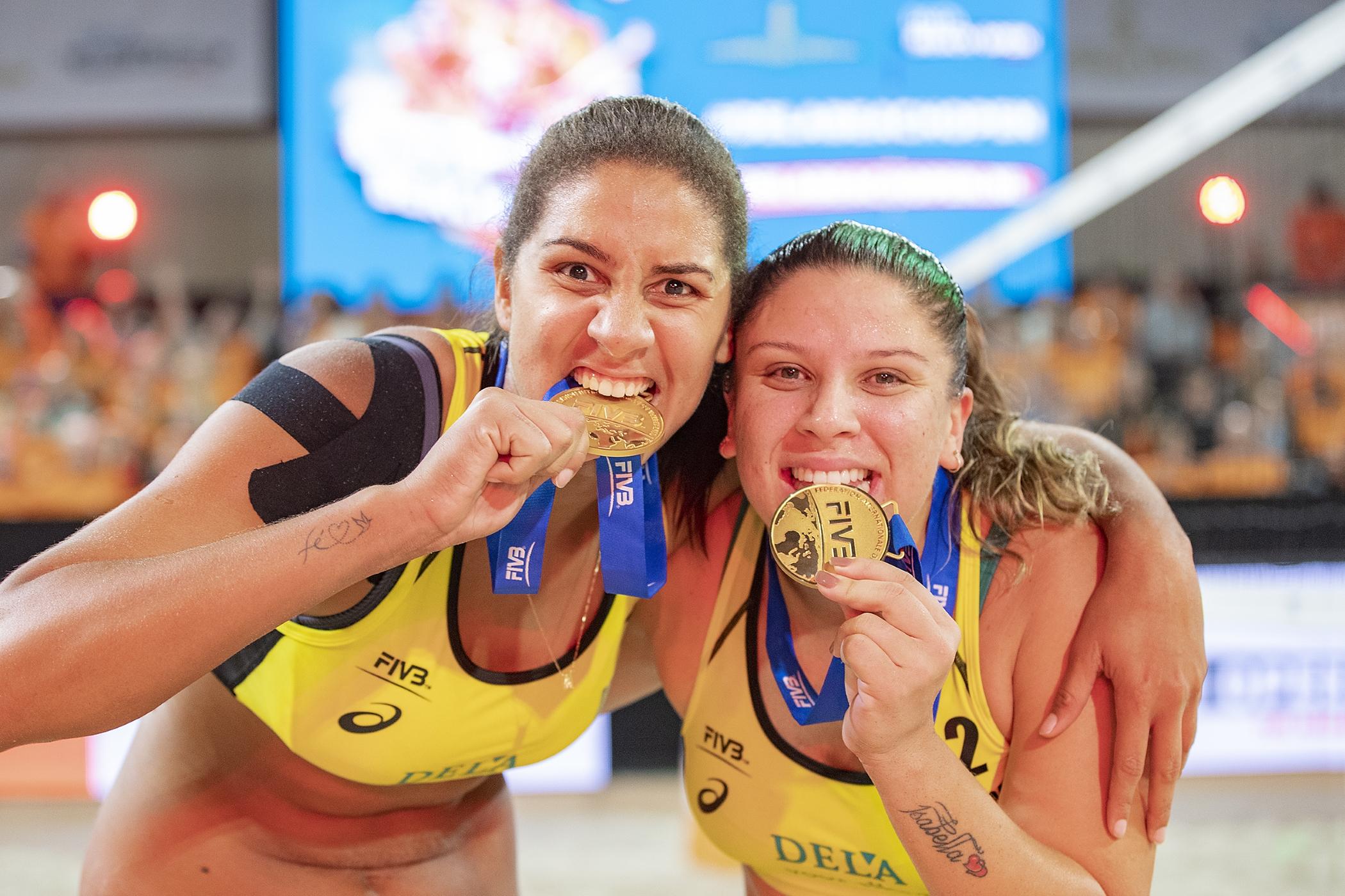 Ana Patrícia/Rebecca vence dupla dos EUA e leva o título na Holanda