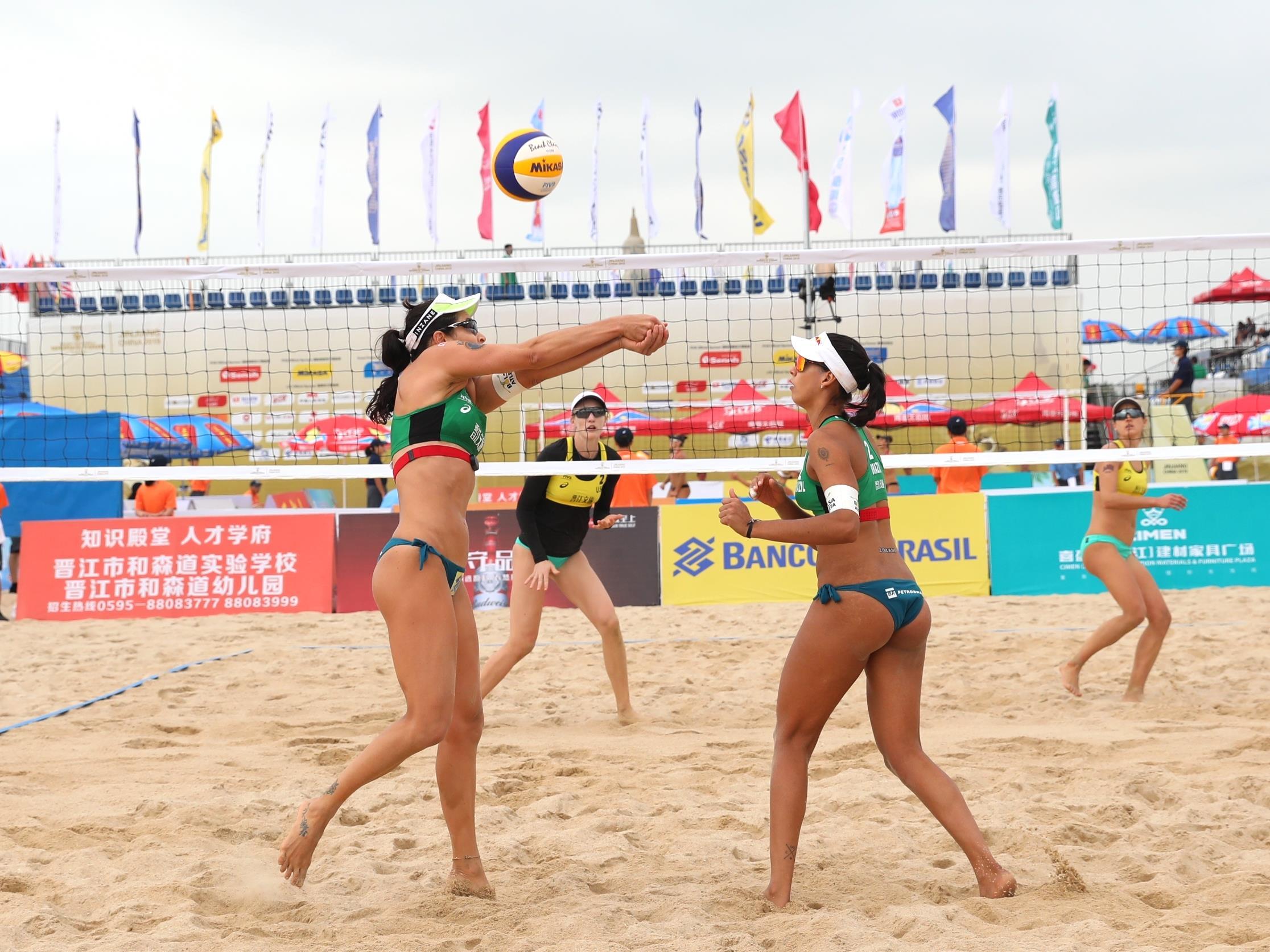 Brasil avança com todas as duplas às oitavas no naipe feminino, na China