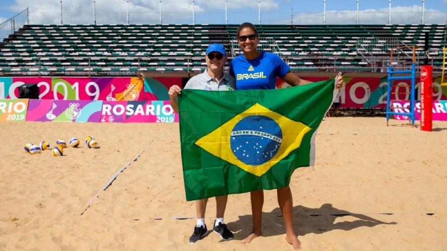 Brasil busca medalhas com duas duplas em Rosário, e Ana Patrícia será porta-bandeira