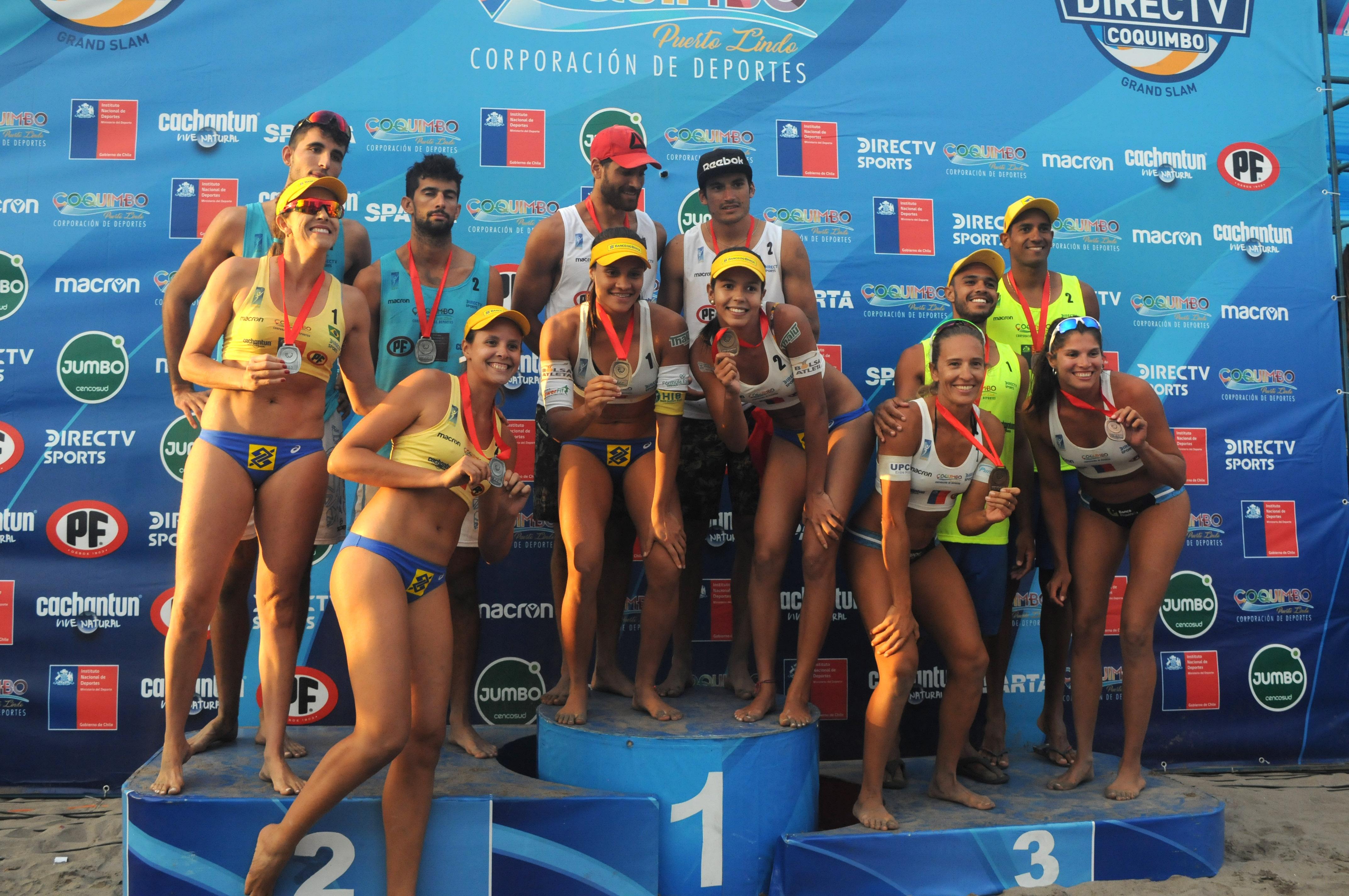 Brasil domina e leva ouro, prata e bronze em etapa de Coquimbo, no Chile