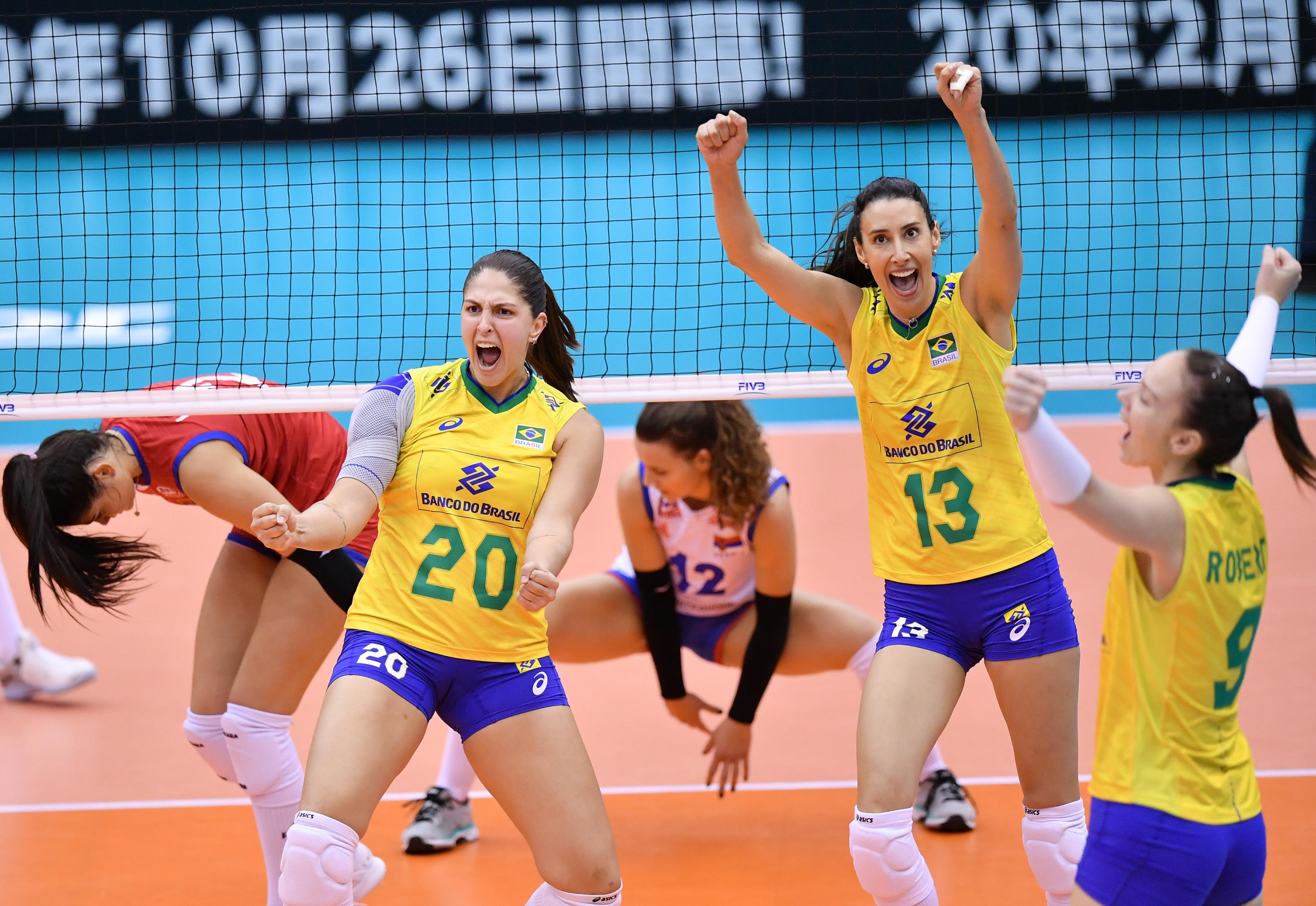 Brasil estreia com vitória sobre a Sérvia