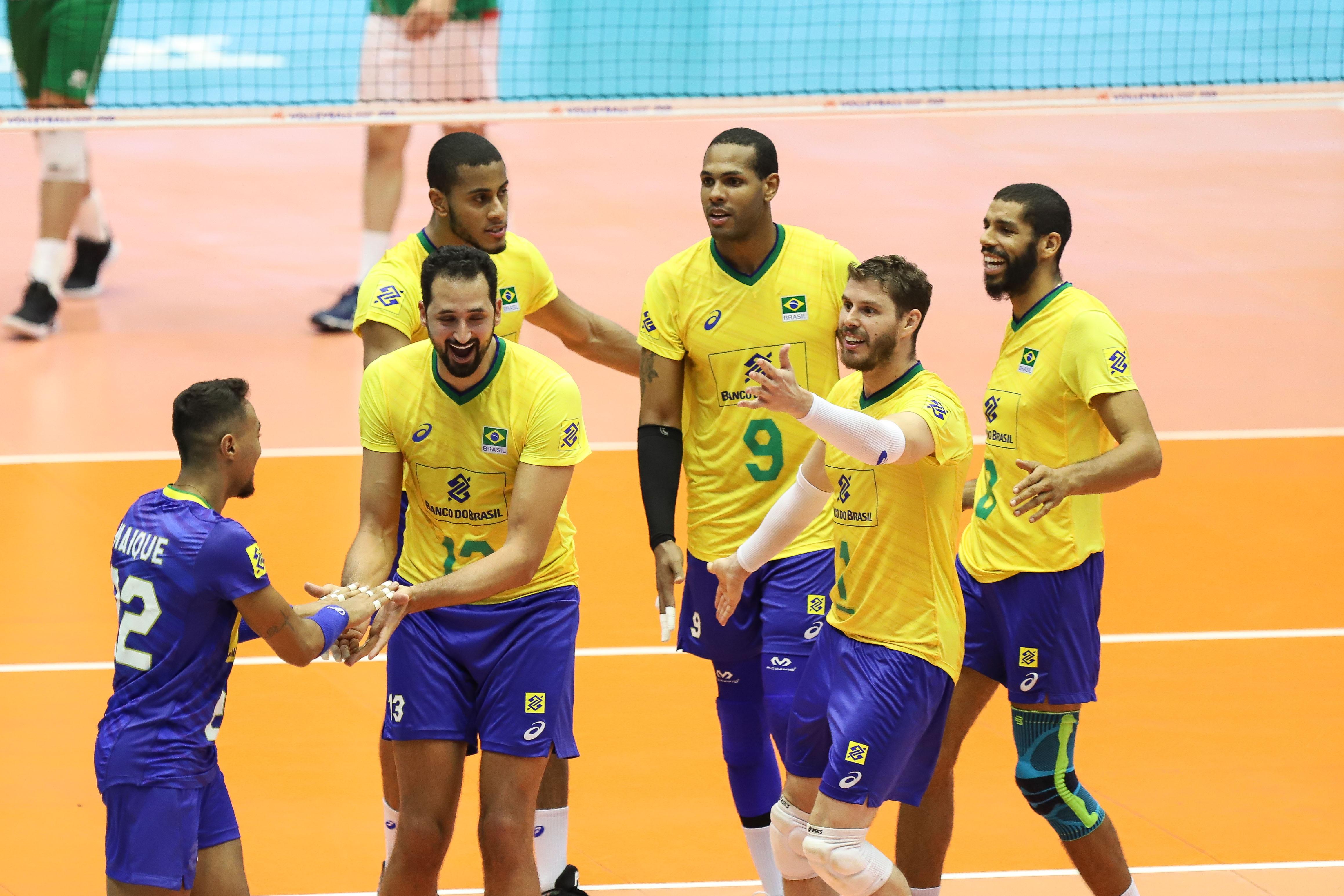 Brasil estreia em casa com vitória sobre a Bulgária